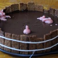 """Gâteau """"le bain des 3 petits cochons"""""""