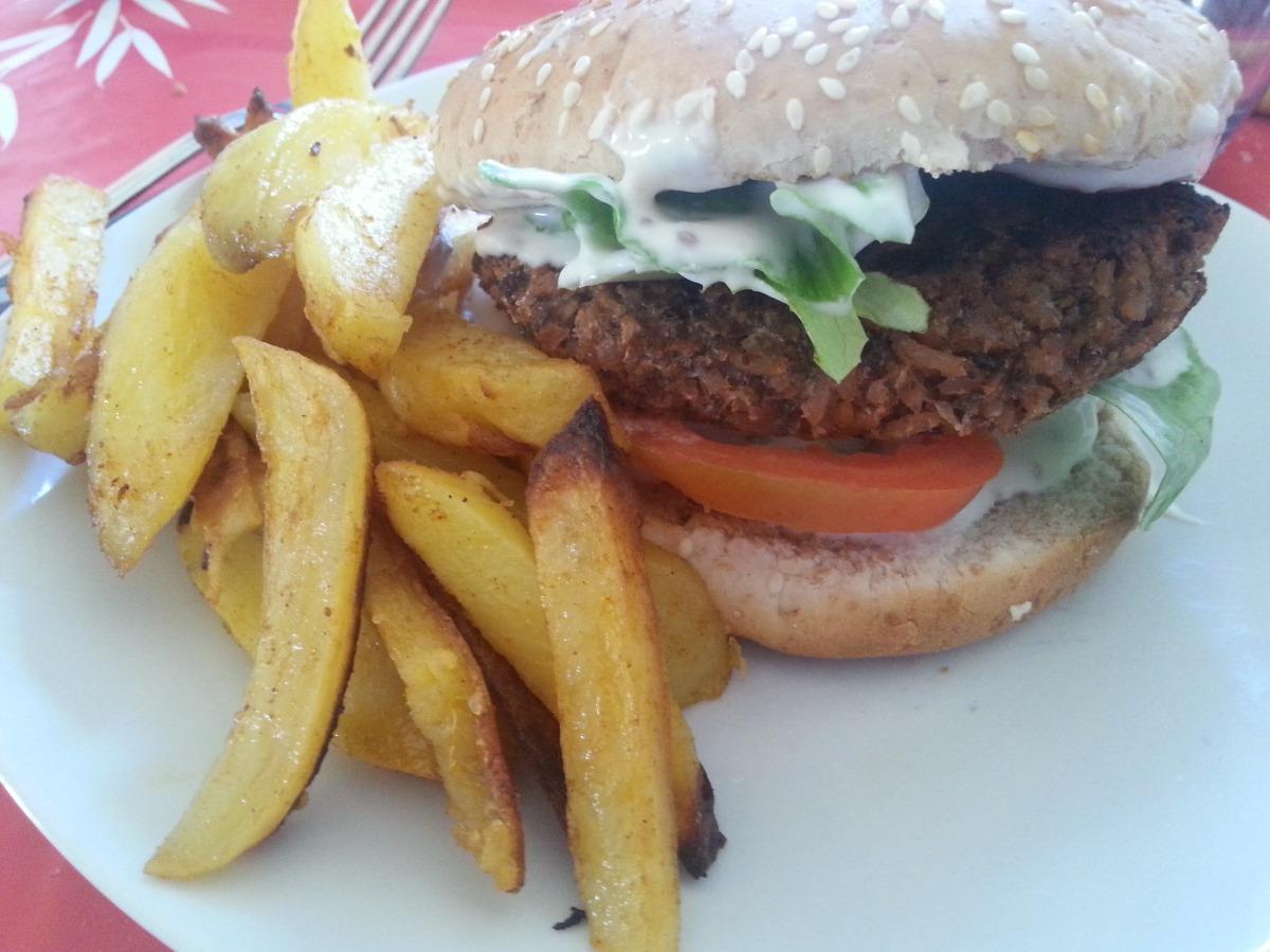 """Le burger végé du """"Camion qui fume"""""""