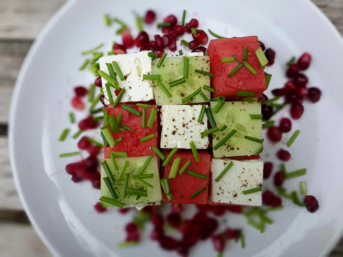Salade en Rubik's cube®