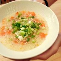 Riz gluant au potiron et sésame (Congee - soupe chinoise)